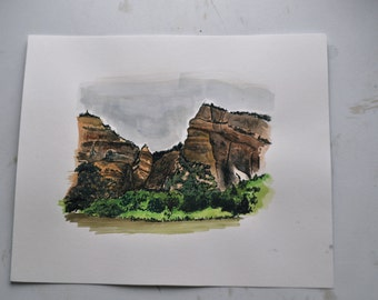 Colorado Landscape Watercolor Painting