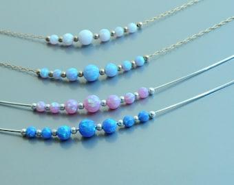 Opal necklace. Opal ball. Fire opal. Opal Jewelry. Discount: Opal Necklace + Opal ring. Blue Opal. White Opal. Pink Opal. Girlfriend gift