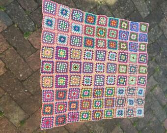 Crochet Granny Square Blanket/Throw