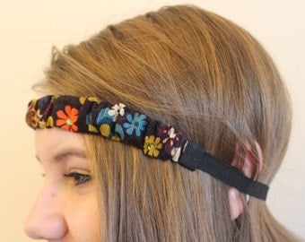 Jeweled, Corduroy Headband