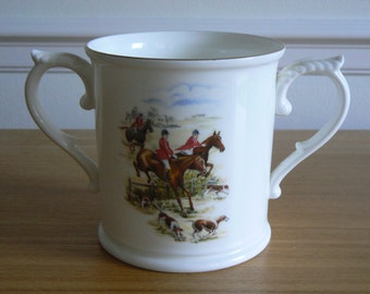 Royal Worcester Bone China Cider Cup - Complete with Hunting Scenes