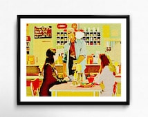 LUKE'S DINER - gilmore girls - art print - rory - coffee - dragonfly - connecticut - fall - poster - 8x10 - 11x14 - kitchen art - mother