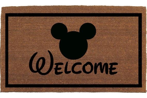 Disney Font Mickey Mouse Door Mat Disney Font By