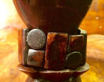 Geometric bracelet genuine Horn