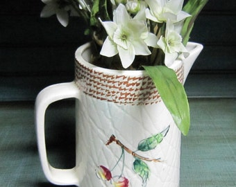 Ucagco Japan Water Pitcher, Flower Vase, Early Provincial, Country Decor, Shabby Chic
