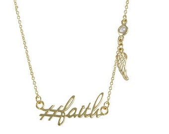 Hashtag Collection # faith necklace