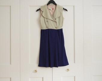 1970s two tone mini dress