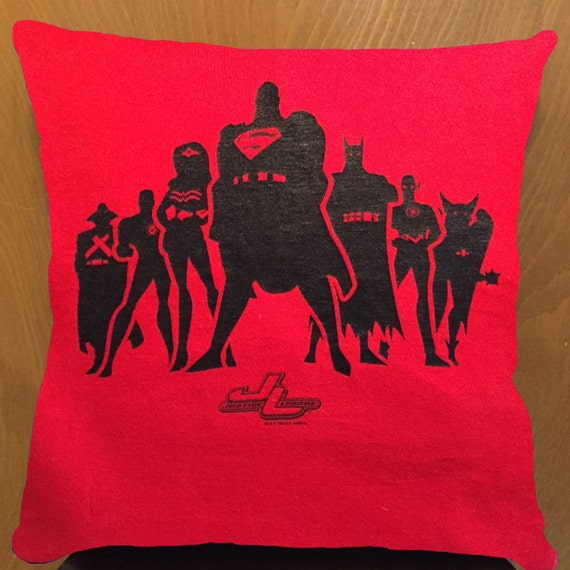 Throw Pillows With Jewels : Justice League throw pillow by octobot52 on Etsy