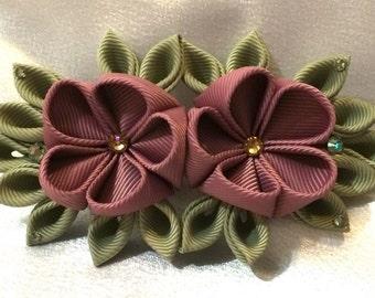 Kanzashi Style French Barrette