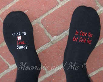 Monogram Groom Socks- Monogrammed Father of the Bride Socks- Personalized Socks- Wedding Socks- Wedding Gift- Bridal Set- Wedding Party Gift