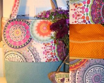 Mandala tote shoulder bag