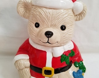Santa Bear Cookie Jar (928)
