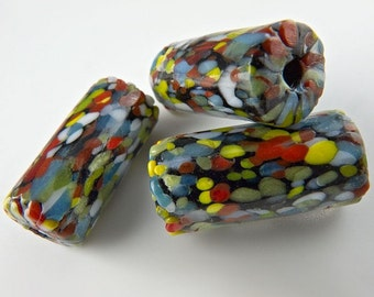 Millefiore Cylinders Beads, 20mm pkg of 4. b1-494(e)