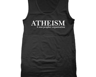 Atheism Funny Humor Pride Atheist Tank Top DT1237