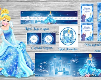 New!!!!Girl!!!CINDERELLA Printable Party Set!!!!