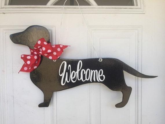 Dachshund Door Hanger Dog Door Hanger Dog Door Decoration