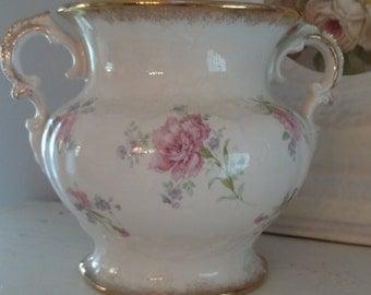 Vintage  Homer Laughlin Pink Floral Vase