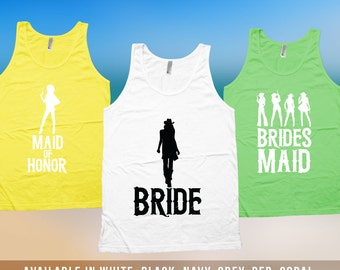 Maid of Honor Tank Top - Cowgirl Bachelorette Party Shirts, Maid of Honor Shirt, Country Western Bachelorette Tank, BFF Maid of Honor CT-502