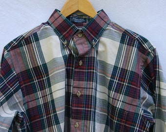 Medium Gant Foxhunt Plaid Men's Long Sleeve Shirt