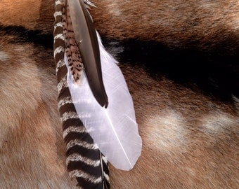 Buckskin Feather Hair Clip