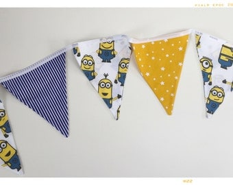 Minions Handmade Children's Bunting For Bedrooms, Parties & Gifts