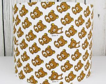 Handmade lampshade in a cute San-x Rilakkuma Bears fabric