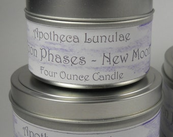 New Moon Phase Ritual Soy Candle
