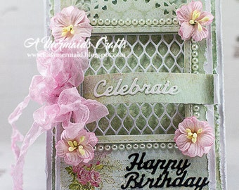 Handmade Celebrate Happy Birthday Card
