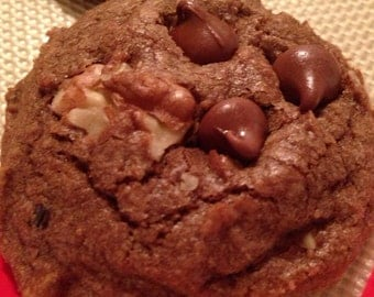 A Pound of Homemade Chocolate Chocolate Chip Cookies