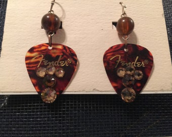 Fender Guitar Pick Dangle Earrings