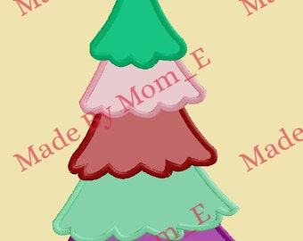 Layers of Christmas Tree Applique