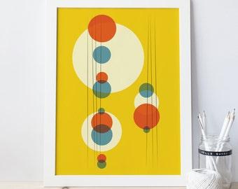 Mid century modern print geometric poster herman miller for Minimal art vzla