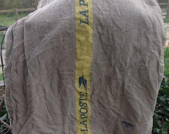 Vintage French la poste sack linen hemp - post mail postal bag