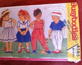 Butterick 4585 Pattern Jacket, Dress and Jumpsuit 1990