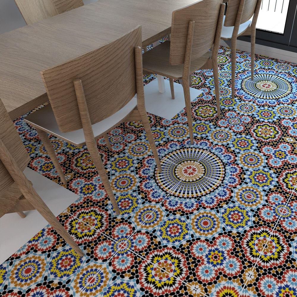 Kitchen Tile Decals Stickers Vinyl Floor Flooring Moorish Tiles Floor Tiles Tiles