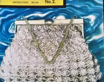 Old handbag crochet pattern book