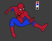 embroidery design Spiderman pes hus jef