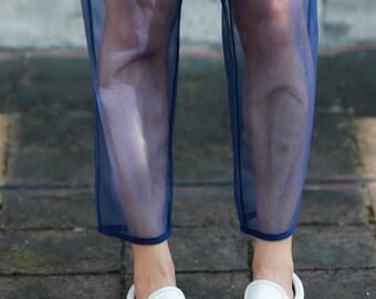Sheer pants trousers, layered pants trousers BonLife