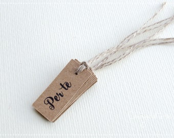 50 TAGS for WEDDING FAVORS