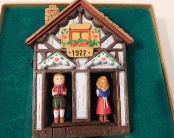 Hallmark 1977 German Dutch House Twirl About Vintage Tree Trimmer Ornament in Box