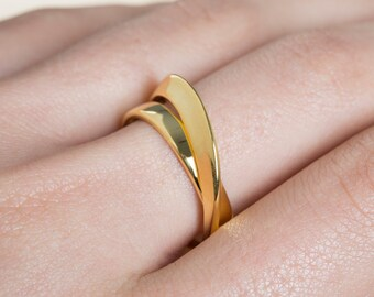 Mobius Ring, Sterling Silver Ring, 9k Mobius Ring, Solid Gold Mobius