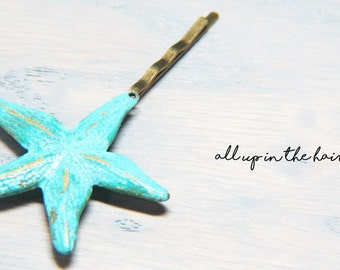 Starfish Bobby Pins - Ocean Bobby Pins - Sea Star Bobby Pins - Starfish Hair Pins - Ocean Hair Pins - Light Starfish Hair Pins