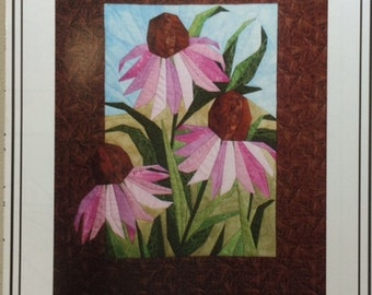 CONEFLOWERS Foundation Paper Pieced Art Quilt Pattern by The Designer's Workshop