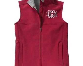 Monogram Womens Soft Shell Vest. Monogrammed Vest. Custom Ladies Vest. Charles River Women's Classic Soft Shell Vest. CR: 5819
