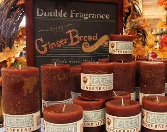 Gingerbread Double Fragrance Pillar candles