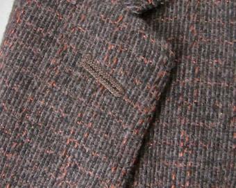 Vintage 1950s Wool Tweed Blazer 42 R ~ Atomic Fleck ~ sport coat / jacket ~ Rockabilly