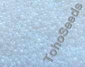 10g Toho Seeds Beads 11/0 Ceylon Snowflake TR-11-141 Rocailles size 11 Pearl White Toho
