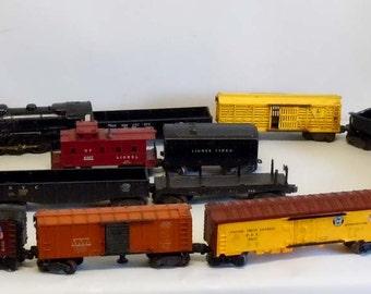 Lionel Train Set 3 Locomotives Crane Dump Coal Box Car Caboose 15 Cars in all HO Gauge