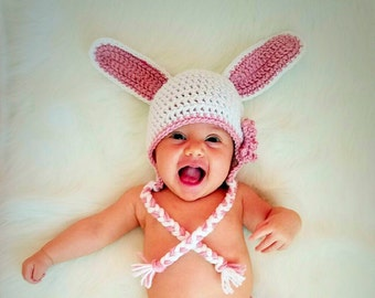Easter bunny hats, kids bunny hat, Easter photo prop, newborn photo outfit, toddler photo props, kids bunny costume, reborn baby clothes