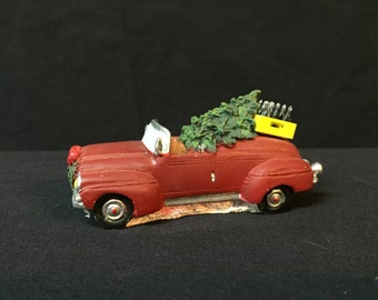 Coke Town Square Convertible with Christmas Tree Holiday Village Accessory 1996 Coca-Cola